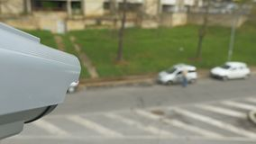 Cámara de vigilancia del reconocimiento del vehículo metrajes