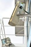 Cámara de vigilancia en la nave Fotografía de archivo libre de regalías
