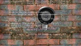 Cámara de vigilancia y códigos metrajes