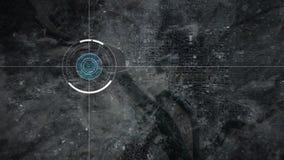 C?mara del abej?n de vigilancia que explora Washington ilustración del vector