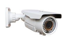 Cámara del CCTV en el fondo blanco imagen de archivo libre de regalías