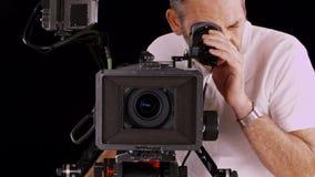 Cámara del cine almacen de metraje de vídeo