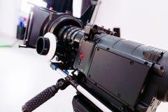 Cámara del cine de Profesional Imagen de archivo libre de regalías