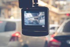 Cámara del coche del CCTV para la seguridad en el accidente de carretera Imágenes de archivo libres de regalías