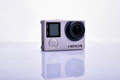 Cámara del héroe 4 de GoPro Fotos de archivo libres de regalías