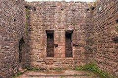 Cámara del rastrillo, castillo de Goodrich, Herefordshire fotografía de archivo libre de regalías