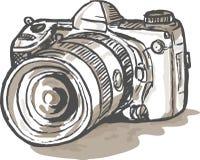Cámara digital de drenaje de SLR Imágenes de archivo libres de regalías