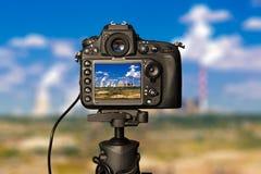 Cámara digital el día fotografía de archivo libre de regalías