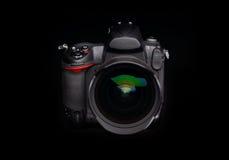 Cámara digital profesional de la foto Fotografía de archivo libre de regalías