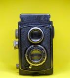 Cámara gemela vieja de la lente Fotografía de archivo