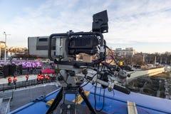 Cámara grande para la difusión de TV viva imágenes de archivo libres de regalías