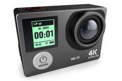 Cámara 4K de la acción para la grabación de vídeo extrema 3D Imágenes de archivo libres de regalías