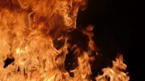 Cámara lenta de la ráfaga de fuego almacen de video