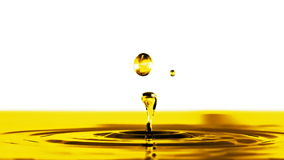 Cámara lenta del descenso del aceite metrajes