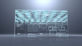 Cámara lenta del desplome digital del fondo del programm del código de ordenador stock de ilustración