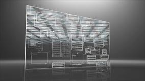 Cámara lenta del desplome digital del fondo del programm del código de ordenador libre illustration