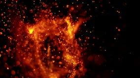 Cámara lenta estupenda de las chispas del fuego almacen de metraje de vídeo