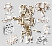 Cámara-mano de la película drenada Fotografía de archivo libre de regalías
