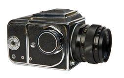 Cámara media vieja del formato Fotografía de archivo