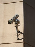 Cámara montada en la pared del CCTV Foto de archivo