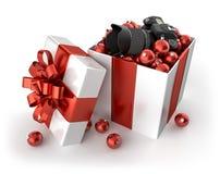 Cámara para la Navidad Imagen de archivo libre de regalías
