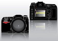 Cámara profesional del alto vector detallado SLR Imagen de archivo libre de regalías