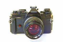 Cámara refleja de la sola lente aislada en Backgr blanco Fotografía de archivo libre de regalías