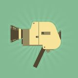 Cámara retra de la película de la mano en estilo simple Imagen de archivo