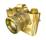 Cámara retra de oro de la foto libre illustration