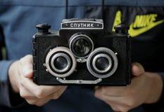 Cámara soviética vieja fotografía de archivo