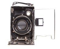Cámara vieja en un fondo blanco Fotos de archivo libres de regalías