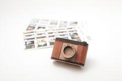 Cámara y índice del juguete Fotografía de archivo libre de regalías