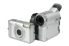 Cámara y camcoder de la foto de Digitaces Imagen de archivo libre de regalías