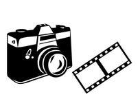 Cámara y película Fotos de archivo libres de regalías