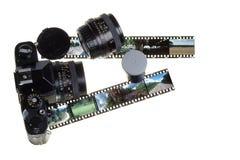 Cámara y película Imagenes de archivo