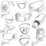 Cámaras CCTV Imagen de archivo libre de regalías