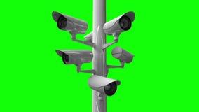 Cámaras CCTV contra la pantalla verde libre illustration