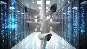 Cámaras CCTV en centro de datos