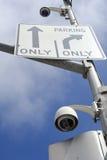 Cámaras de la calle de la vigilancia Fotografía de archivo
