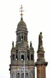 Cámaras de la ciudad en George Square, Glasgow, Escocia Imagen de archivo libre de regalías