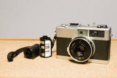 cámaras de la película de 35m m, y películas Foto de archivo