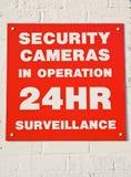 Cámaras de seguridad en 24 operaciones de la hora. Fotos de archivo