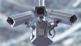 Cámaras de seguridad futuristas en 4K almacen de metraje de vídeo