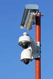 Cámaras de seguridad para la seguridad de ciudadanos Imágenes de archivo libres de regalías