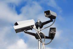 Cámaras de vigilancia Fotografía de archivo libre de regalías