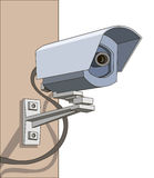 Cámaras de vigilancia Fotos de archivo libres de regalías