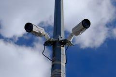 Cámaras de vigilancia de la calle fotografía de archivo libre de regalías