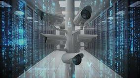 Cámaras de vigilancia y códigos libre illustration