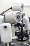 Cámaras del CCTV prealambradas Fotografía de archivo libre de regalías