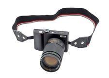 Cámaras digitales compactas con una lente del SLR fotografía de archivo libre de regalías